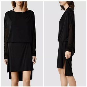 ALL SAINTS  Rubies Black Women's Tie Dress Mesh 4